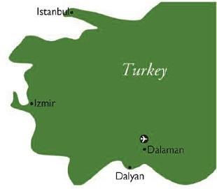 Dalyan map
