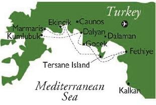Gulet map