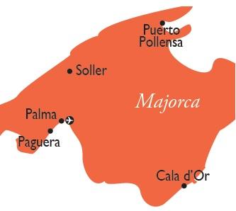 Majorca map