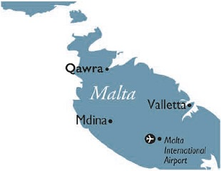 Qawra map