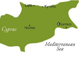 North Cyprus map